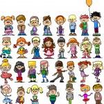 Cute happy cartoon kids — Stock Vector #20391157