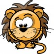 Cartoon cute lion, vector — Stock Vector #20390203