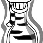 Cute cartoon zebra — Stock Vector #20391297