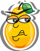 Cartoon pear — Stock Vector