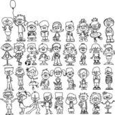Cute happy cartoon kids — Stockvector