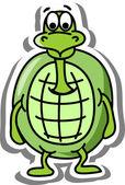 Cartoon turtle — Stock Vector