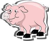 Vektor-schwein, leben auf einem bauernhof — Stockvektor