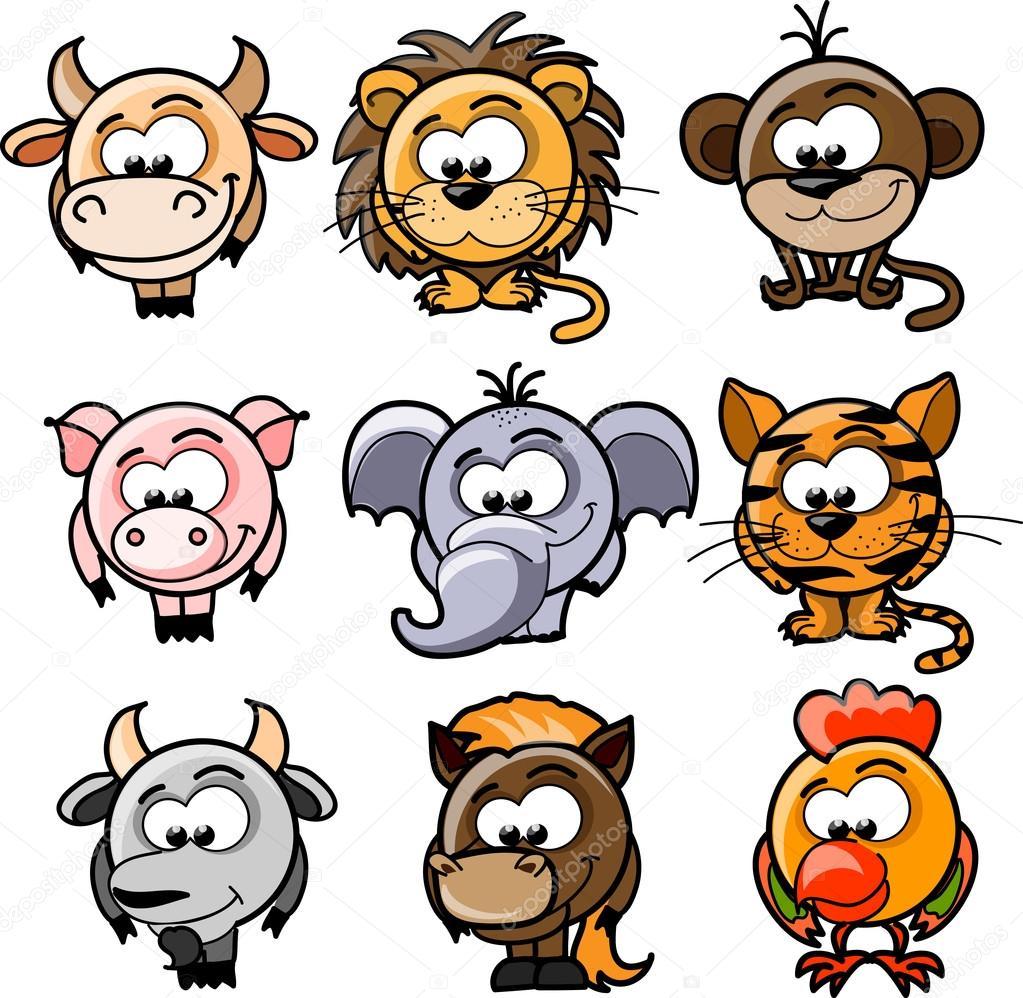 Cartoon vector dieren ...