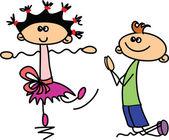 Komplet kreskówka słodkie dzieci — Wektor stockowy