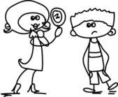 Glücklich Cartoon Kinder — Stockvektor