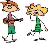 Happy cartoon kinderen — Stockvector