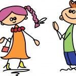 Cute happy kids — Stock Vector #22561285