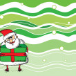 Cartoon Santa, background — Stock Vector