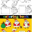 Royalty-Free Stock Vector Image: Coloring book of Santa Claus , vector