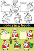 Coloring book of Santa Claus , vector — Stock Vector