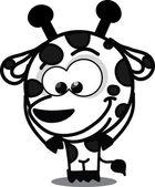 Cartoon giraffe , vector — Stock Vector