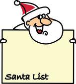 Noel Baba, arka plan çizgi film — Stok Vektör