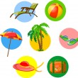 Traveling icons — Stock Vector