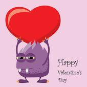 Gratulationskort, valentine bakgrund — Stockvektor