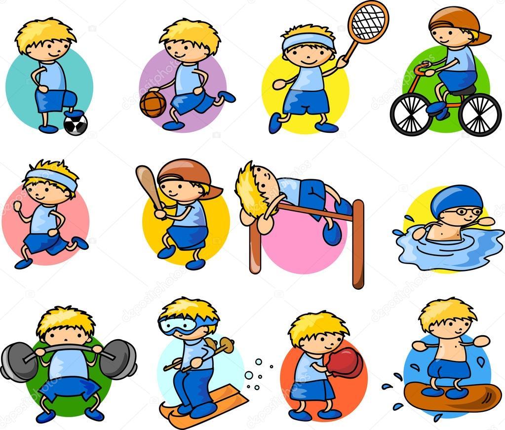 Cartoon sport icon– stock illustration
