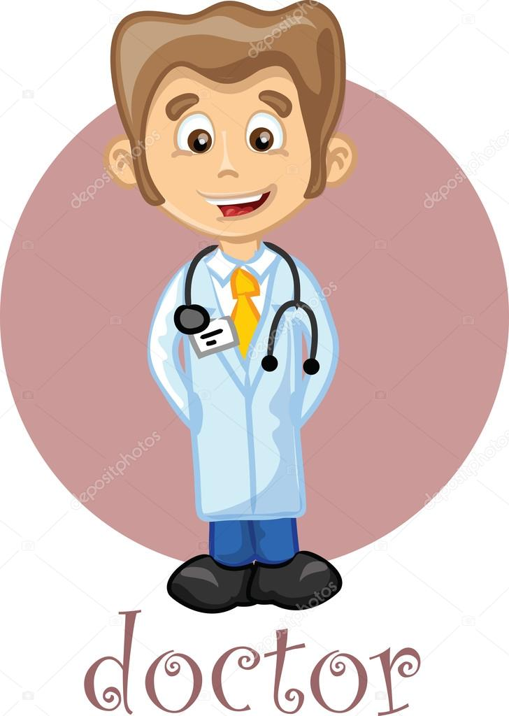 Cartoon cute doctor — Stock Vector © virinaflora #22967064