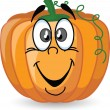 Stock Vector: Cartoon pumpkin