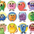 Stock Vector: Cartoon cute monsters