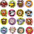Cartoon animals — Vector de stock #23217314