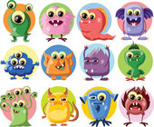 Cute cartoon monsters — Stockvector