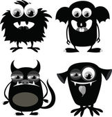 Cartoon cute monsters — Stock Vector