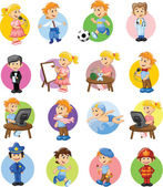 Different professions — Stock Vector