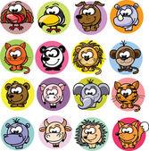 Animales de dibujos — Vector de stock