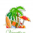 Royalty-Free Stock Immagine Vettoriale: Travel vacation vector background