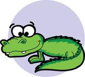 Cartoon crocodile — Cтоковый вектор