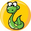 Cartoon cute vector snake — Stock Vector
