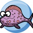 Cartoon cute vector Fish — Stock Vector