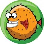Cartoon cute vector fish — Stock Vector