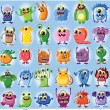 Vector de stock : Cartoon cute monsters