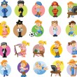 Cartoon characters of different professions — Stock Vector #25694519