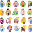 Cartoon characters of different professions — Imagen vectorial