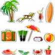 Travel vacation vector icons — Stock Vector