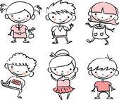 Cute happy kids — Stock Vector
