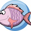 Stock Vector: Cartoon fish