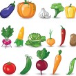 Stock Vector: Cartoon vegetables