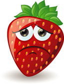 Cartoon strawberry with emotion — Stock Vector