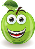 Cartoon apple with emotion — Stock Vector