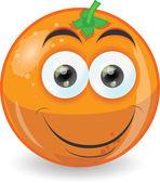 Kreskówka ładny pomarańczowy — Wektor stockowy