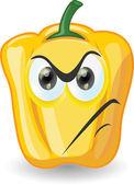 Cartoon yellow pepper — Stock Vector