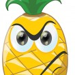 Cartoon pineapple with angry face — ベクター素材ストック