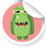 Cartoon cute monster — Stock Vector