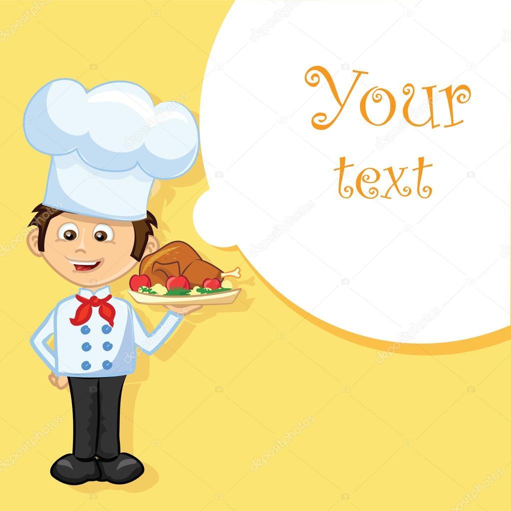 卡通人物-可爱厨师