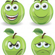 Cartoon funny apples — Stock Vector