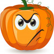 Cartoon funny pumpkin — Stock Vector