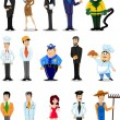 Cartoon characters of different professions — Stock Vector #30817051